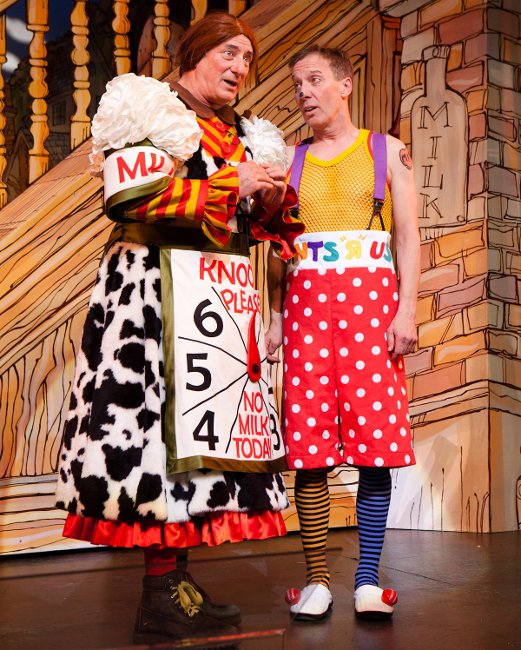 Berwick Kaler & Martin Barrass in York Theatre Royal's panto, photo by Karl Andre Photography