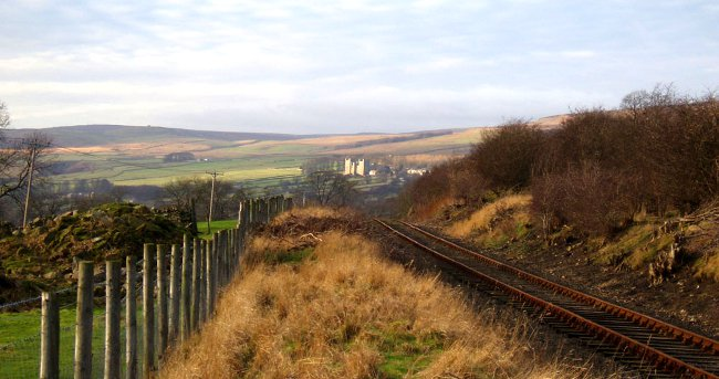 Looking over to Castle Bolton - photo courtesy of Andrew Chapman, Wensleydale Railway Association