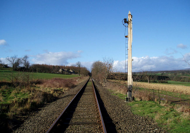 Near Akebar, looking towards Constable Burton - photo courtesy of Andrew Chapman, Wensleydale Railway Association