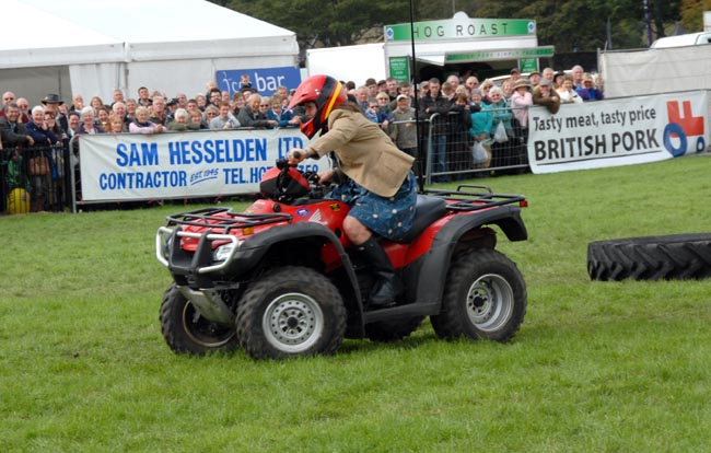 Kirstie on the Quad Bike - picture courtesy of Nidderdale Show