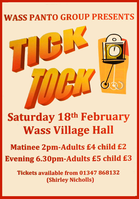 Tick Tock at Wass Village Hall