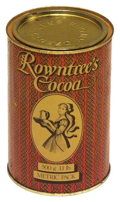 Every kitchen should have a tin of Rowntree's Elect Cocoa - this one comes from the Rowntree Mackintosh era © Chris Jones/Bow House