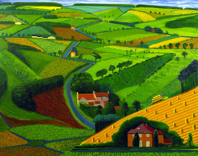 The Road Across the Wolds - Press Association © David Hockney