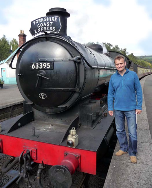 North Yorkshire Moor Railway, Hugh Dennis at Grosmont - picture courtesy of NYMR