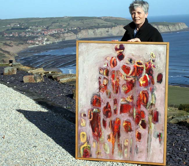 Artist Bren Head at Ravenscar - photograph courtesy of NYOS