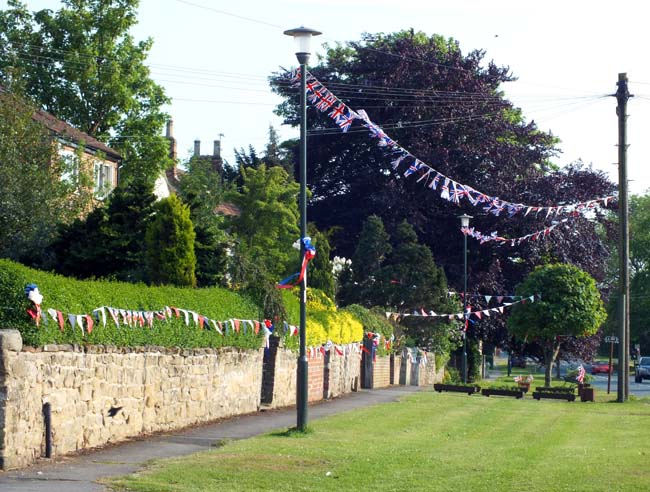 Diamond Jubilee bunting in North Yorkshire village of Minskip, near Boroughbridge - photo  Chris Jones/Bow House Ltd