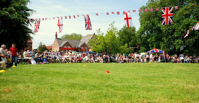 Diamond Jubilee event in a little Yorkshire village - photo  Rich Fox/Bow House Ltd