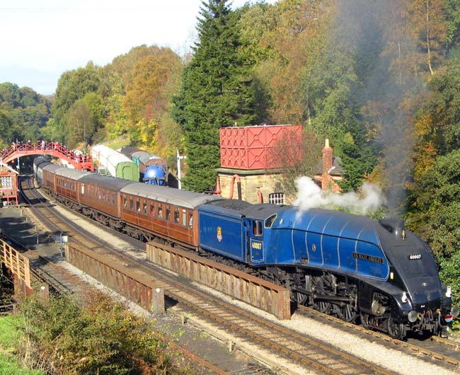 The Sir Nigel Gresley (LNER Class A4 4498, BR 60097) will carry the Olympic Flame from Grosmont to Pickering - photo courtesy of NYMR