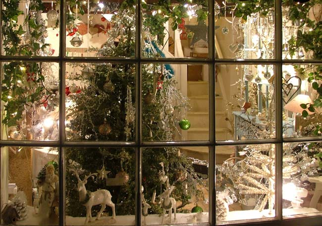 Grassington Dickensian Christmas shop window