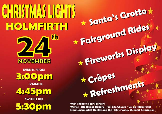 Holmfirth Christmas Lights Switch On