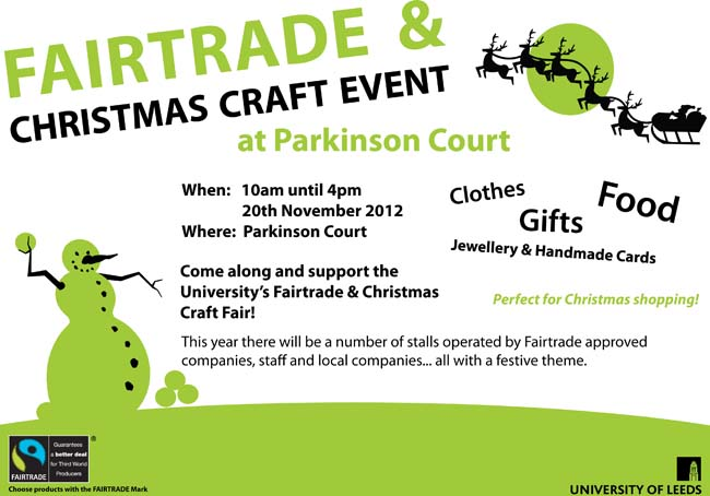Leeds Uni - Fairtrade Christmas Fair
