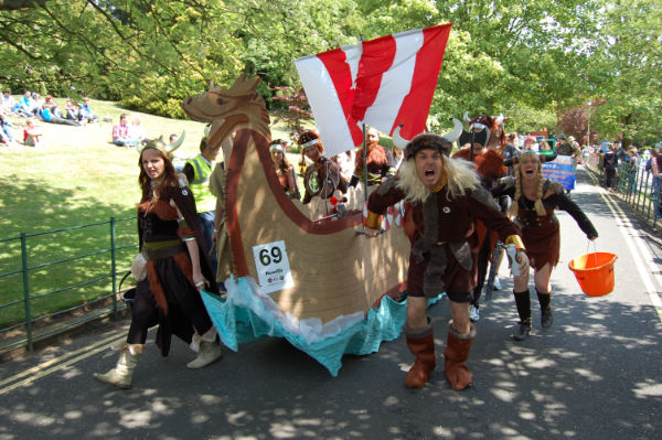 Bed Race - ferocious vikings