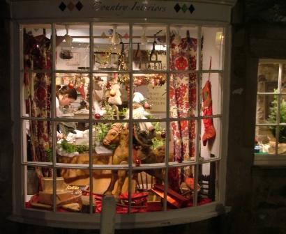 Shop window in Grassington