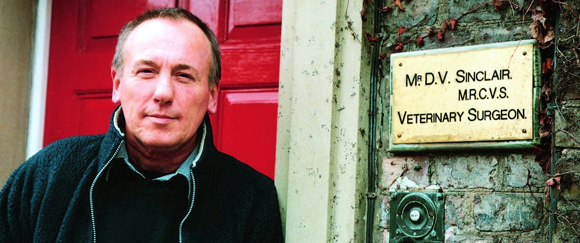 Christopher Timothy at the Herriot Museum in Thirsk