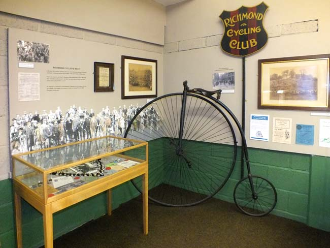 Richmondshire Museum - penny farthing cycle, © Chris Jones/Bow House Ltd