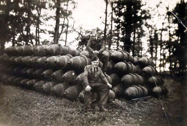 Bomb dump Kiplin Woods