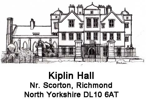 Kiplin Hall - logo and address