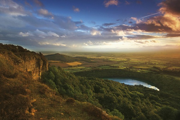 The view from Sutton Bank, North Yorkshire