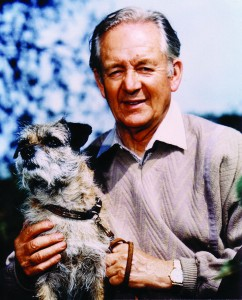 Alf Wight (James Herriot) with his dog