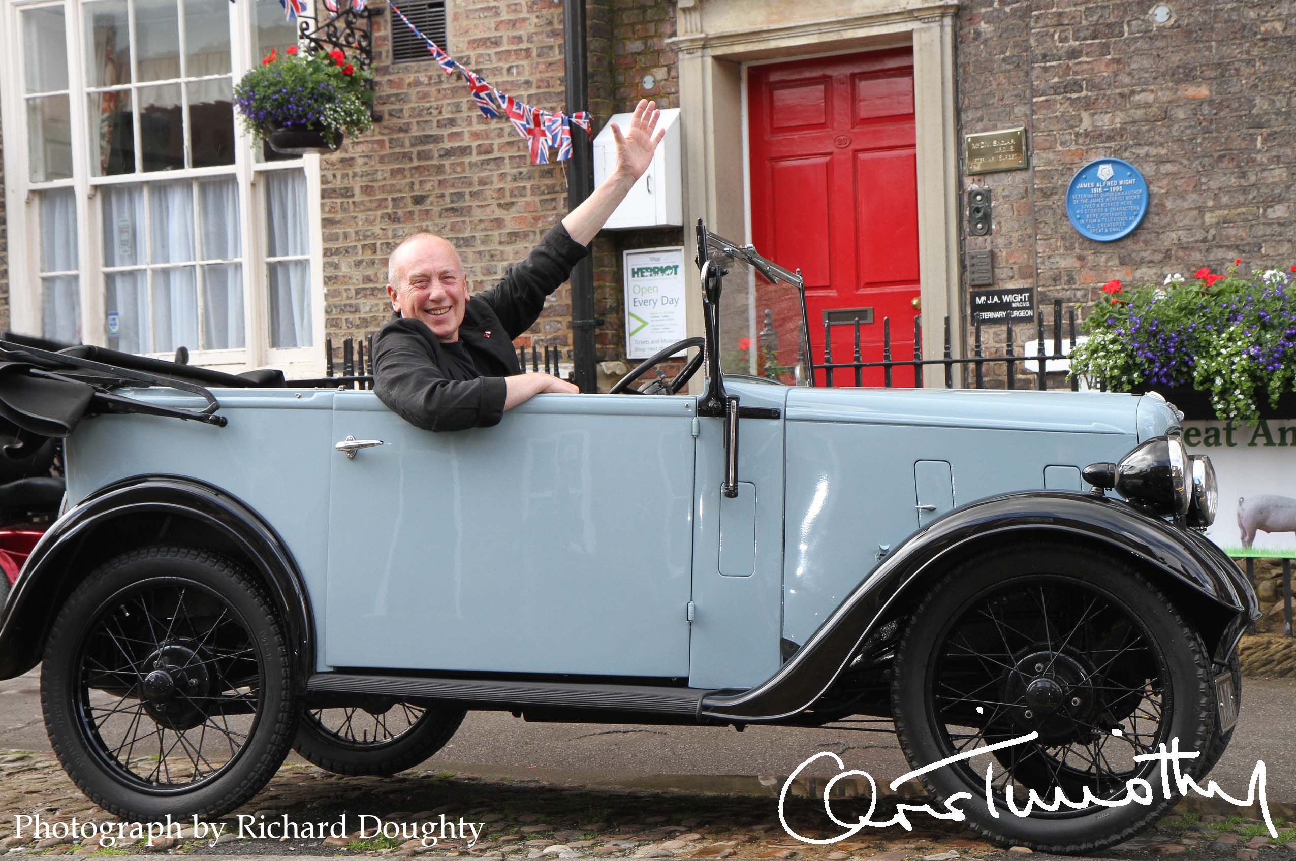centenary anniversary year of alf wight james herriot hello actor christopher timothy from all creatures great and small pic richard doughty