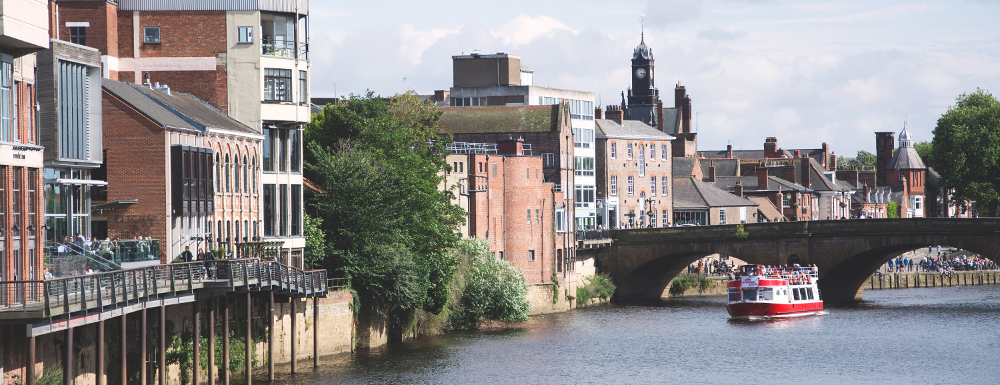 Image of York city river cruises as one of the things for couples to do in Yorkshire