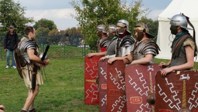 roman soldiers performing at one of the events around Yorkshire in June 2018