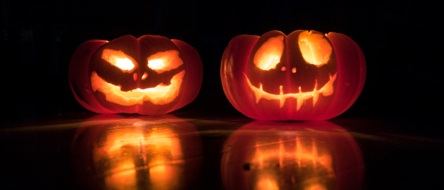 carved pumpkins at Halloween events in Yorkshire