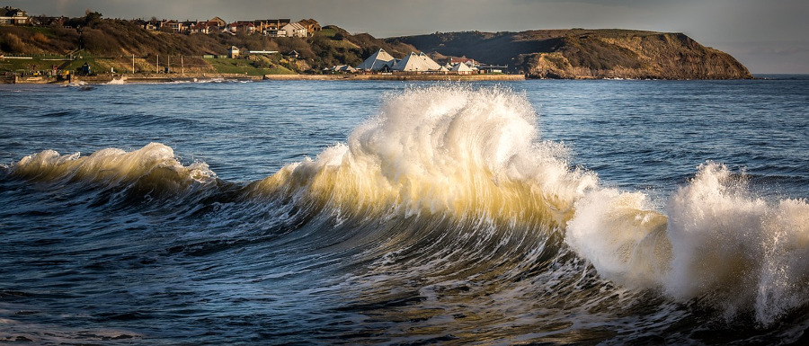 waves on the Yorkshire coast