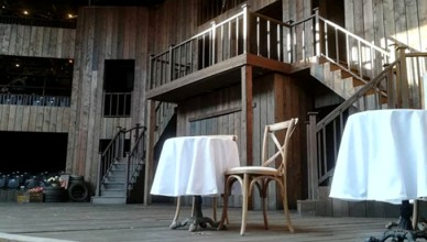 staging at Shakespeare Rose Playhouse