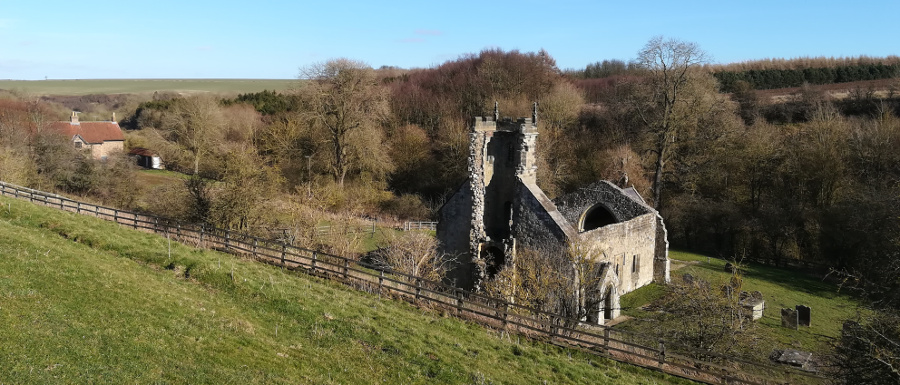 Wharram Percy medieval village church