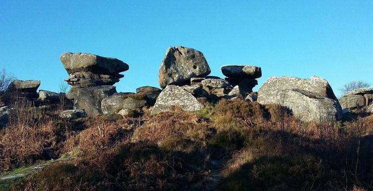 Brimham Rocks on a sunny winter day