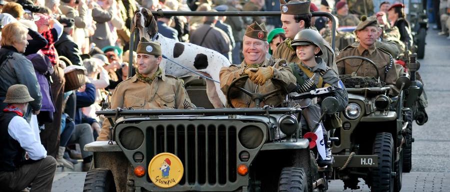Pickering War Weekend car parade