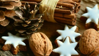 cinnamon, pine cones and biscuit stars