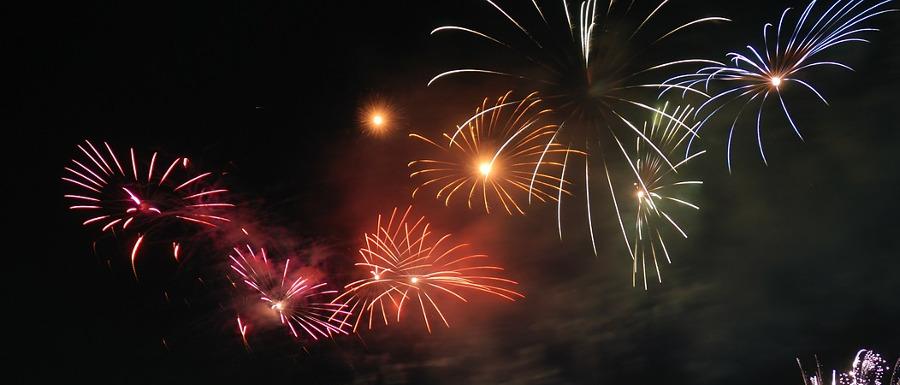 firework display at bonfire night in North Yorkshire