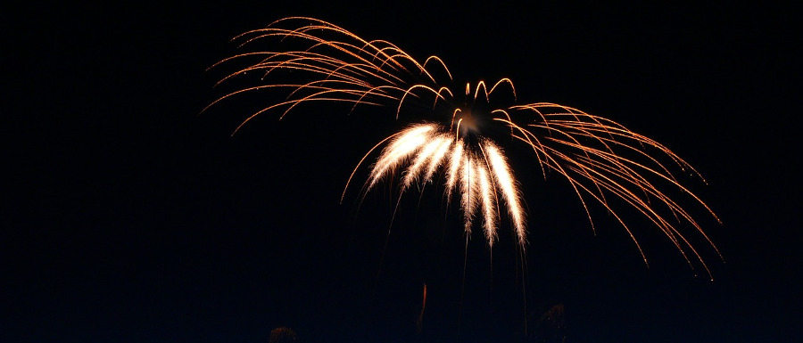firework explosion over North Yorkshire