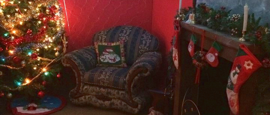 Santa's grotto at Scarborough's North Bay Railway