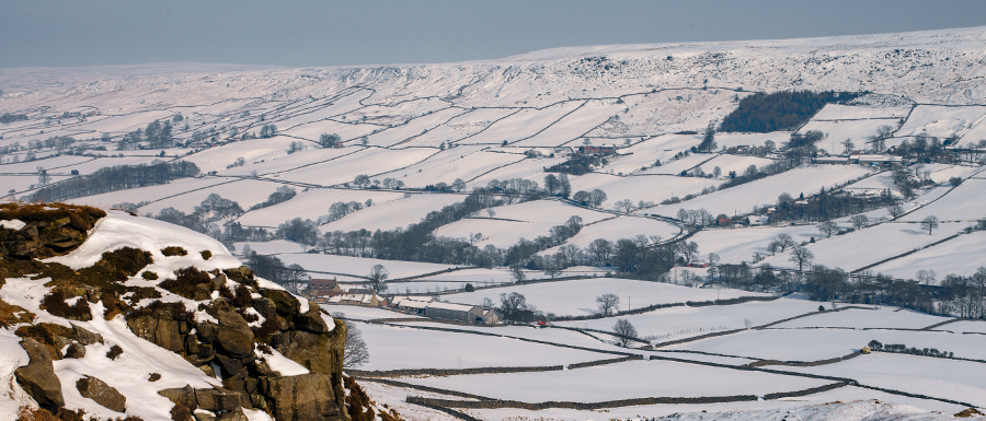 Winter landscape in the North York Moors National Park