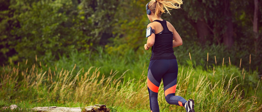 woman running in Yorkshire