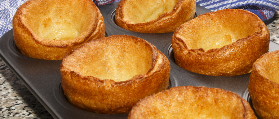 tray full of proper Yorkshire puddings