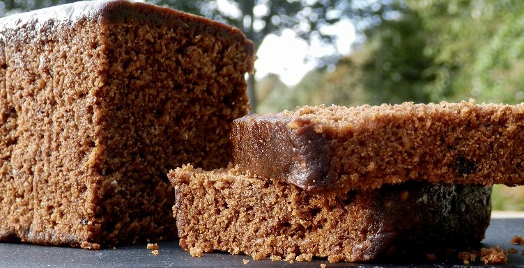 Yorkshire parkin on slate chopping board