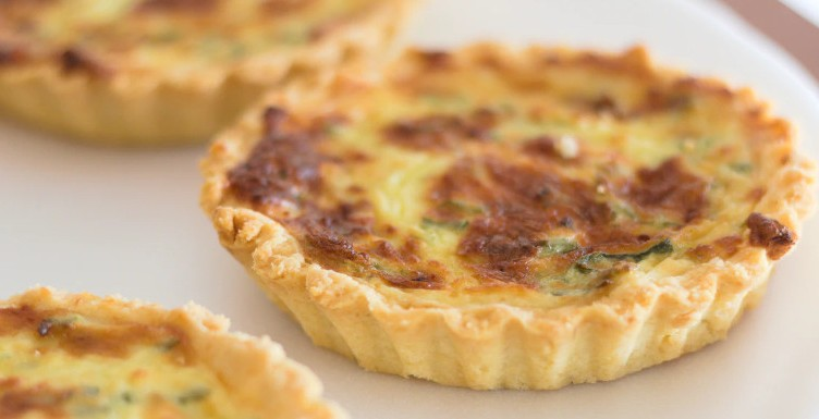 Yorkshire curd tart on a plate