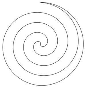 Christmas spiral guide
