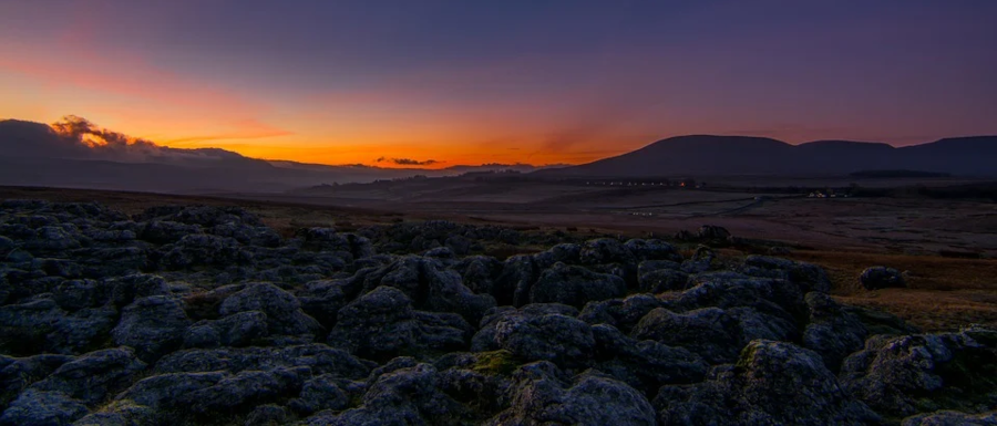 winter sunrise in the Yorkshire Dales