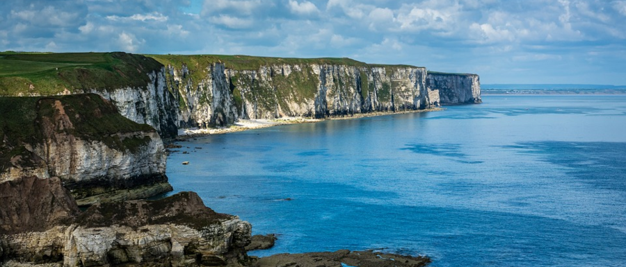 sea and cliffs along the Yorkshire coast