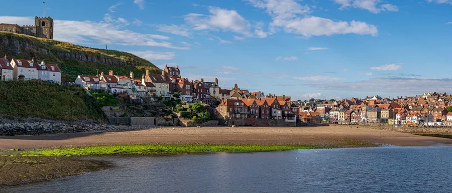 Whitby beach in North Yorkshire
