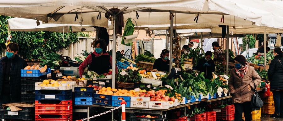 outdoor market stall