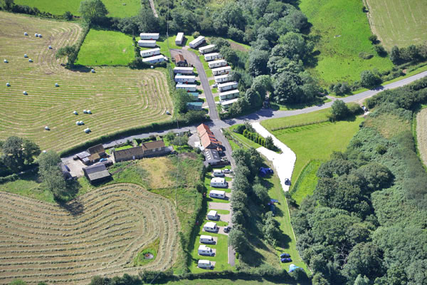 A view of Rigg Farm Caravan Park and its beautiful setting