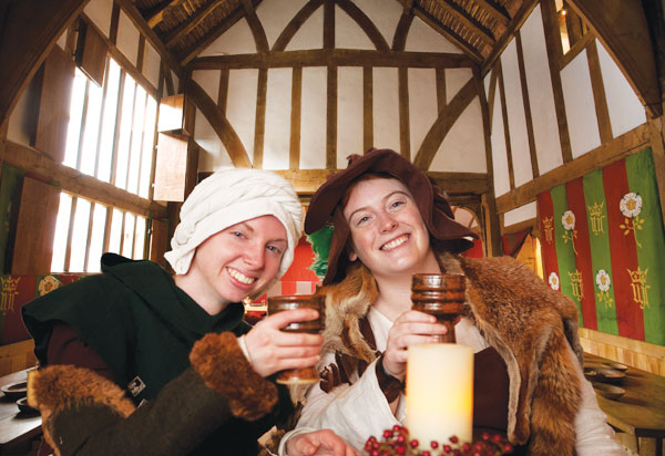 people in costume enjoying Barley Hall, one of the great Yorkshire museums