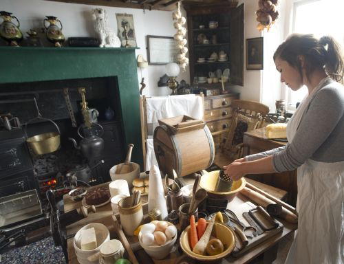 cooking demonstration in one of the great Yorkshire museums