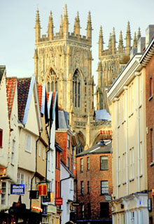 York Minster seen from Low Petergate, York